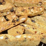 biscotti with almonds, cranberries & cornmeal