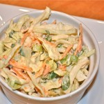 coleslaw with spiced greek yogurt