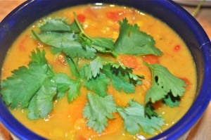 Red lentil, carrot coconut soup is perfect to have on hand and your ...