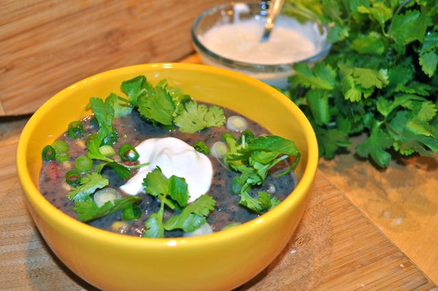 black bean soup/feature