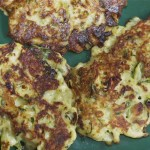 zucchini or (broccoli) fritters with scallions &am...