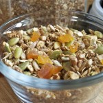 granola with dried fruit, nuts & seeds