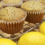 coconut lemon muffins with chia seeds