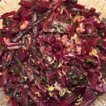 beets, their greens with thyme, balsamic & wal...