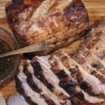 pork loin grilled with smoke