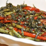 green beans & peppers with crispy sage & g...