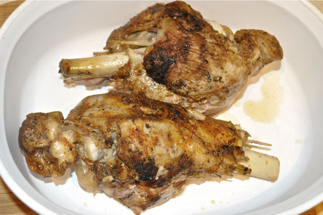 turkey legs braised
