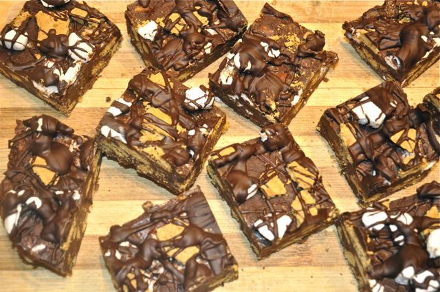 s'mores chocolate fudge