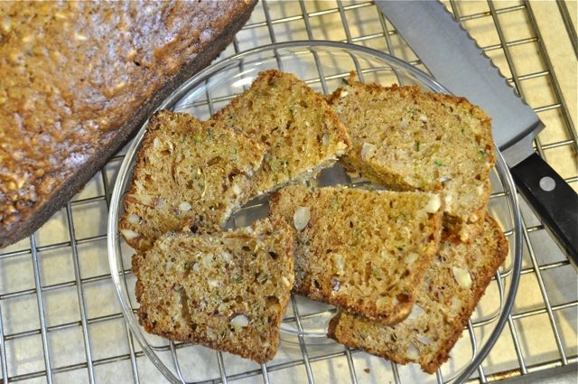 zucchini bread with lemon zest & almonds