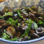 black olives seared in lemon, garlic & herbs