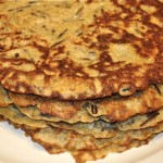 crêpes with wild rice, herbs & spices