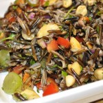 wild rice salad with toasted nuts & grapes